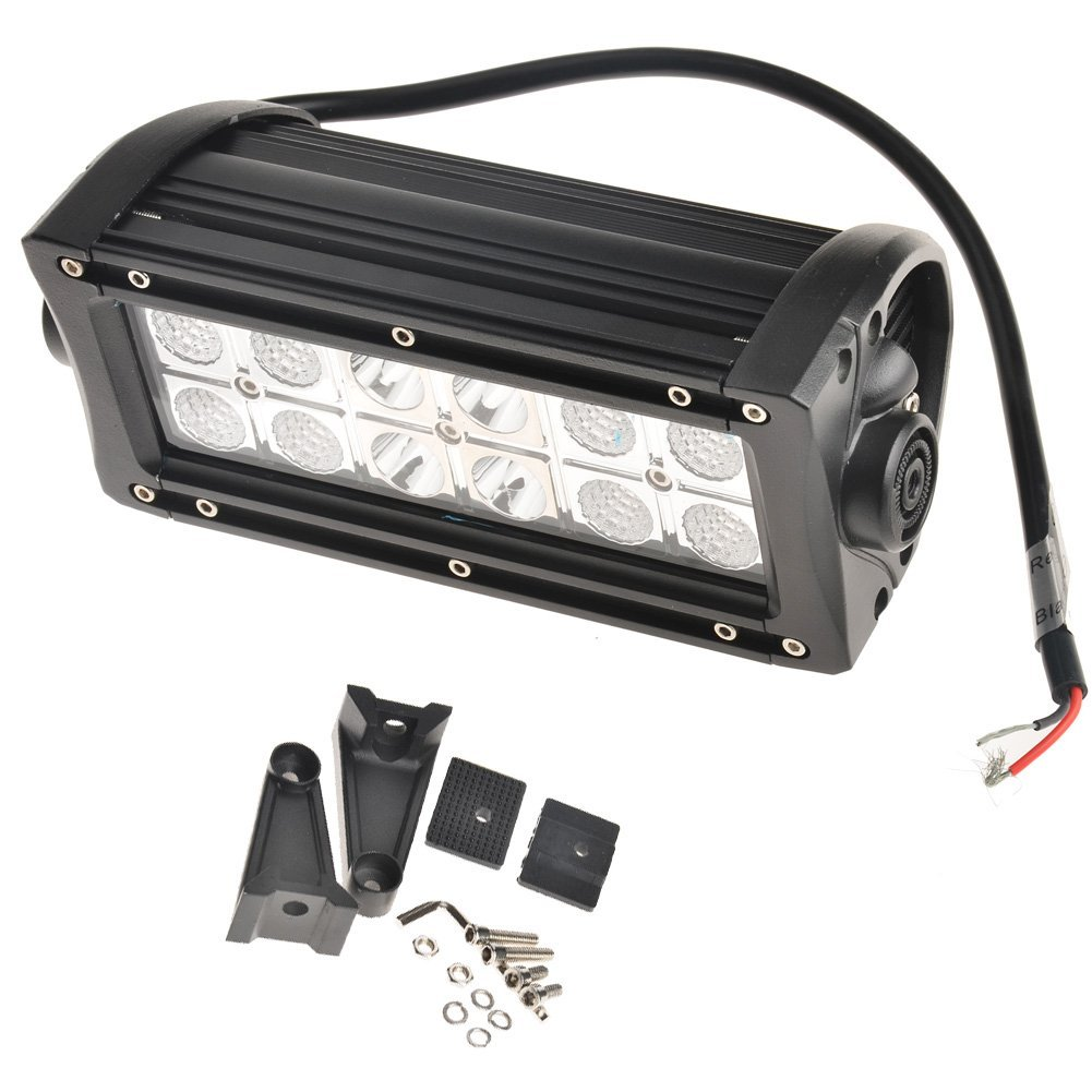 KAWELL® Off Road 36W White and Amber Spot and Flood Combo Beam Off Road Light Bar