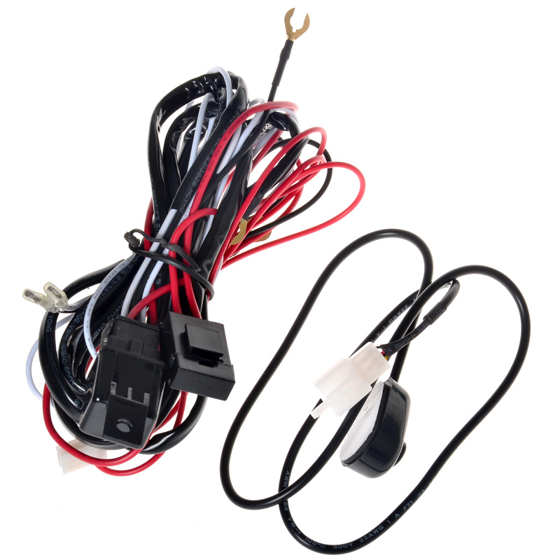 61_P_1406800736303 kawell� 2 leg wiring harness include switch kit support 120w led motorcycle wiring harness kits at crackthecode.co