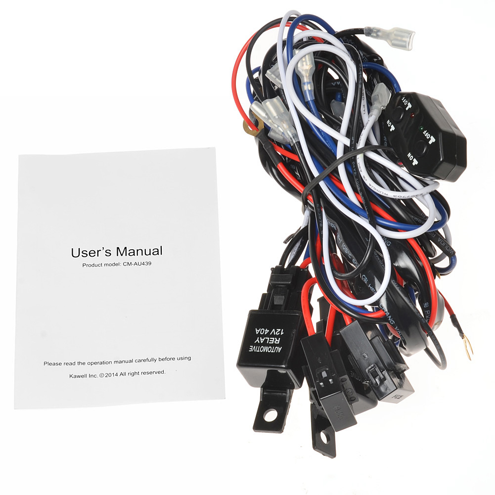 64_P_1406801365041 kawell� 2 legs plug and play remote control supporting 300w led Off-Road Light Wiring Harness at n-0.co