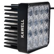 Kawell® 48W Square 4.3 DC 9-32V 6000K 3300LM 60 Degree LED for ATV/Jee...