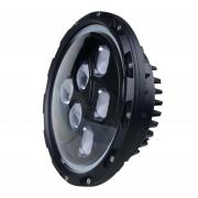 7 inch 60W CREE Round High Beam Low Beam LED Headlight For Jeep Wrangler with Angel Eyes and Daytime Running Light