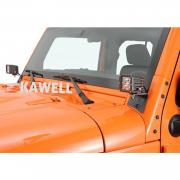 KAWELL Jeep JK A-Pillar Windshield Hinge Mount Brackets (2 pcs) for Mounting Auxiliary Off-Road LED, HID, Halogen Fog and Work Lights to 2007-2013 Jeep Wrangler JK
