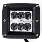 KAWELL® 2 Pack 18W Spot Light 1320 Lumens 3x3 Pods for Work, Driving, Fog, Safety, 4x4, Atv, Car, Truck, 4wd, Suv, Tractor, Motorcycle, Boat, Quad, Utv, and Auxiliary Lighting