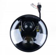 KAWELL 7 inch 70W CREE Round High Beam Low Beam LED Headlight For Jeep...