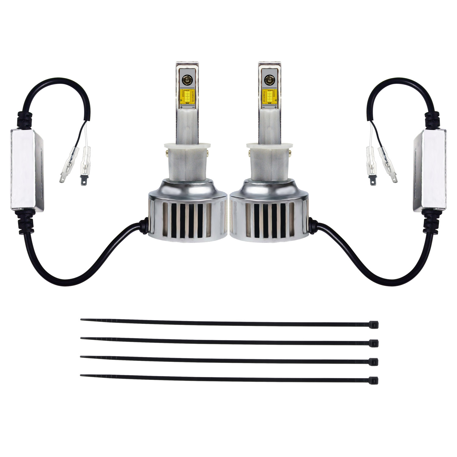KAWELL LED Headlight Bulbs LED Headlight Conversion Kit - H3 - 80W 6,400LM 6500 Cool White OSRAM LED - Replacing H1 Halogen & HID Bulbs - 2 Yr Warranty