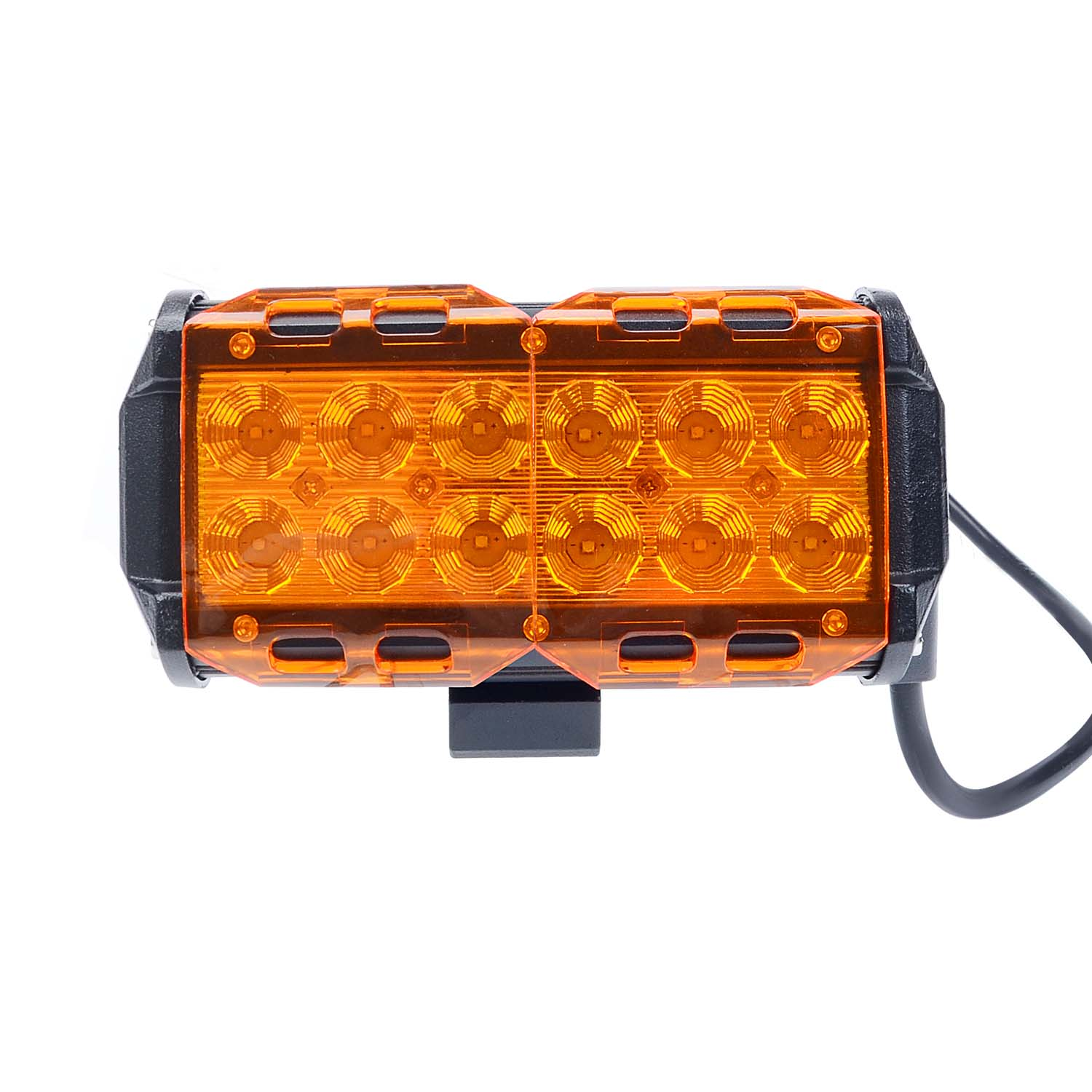 KAWELL® 18w K7-73 Series Led Light Bar Off Road Light Cover Amber Color (2 Pack)
