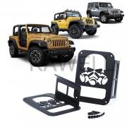 KAWELL Skull Gas Mask Black Light Guard Protector For 2007-2016 Jeep Wrangler 2/4 door Sport X Sahara Unlimited Rubicon Rear Taillights ( Tail Light ) Cover - Pair