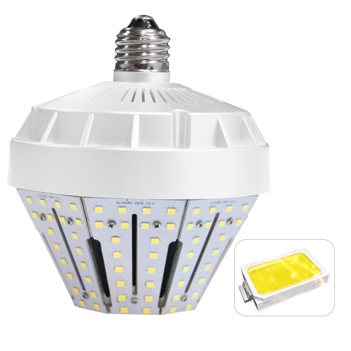 KAWELL 30W LED Garden Light,E26 4500Lm 5000K (Crystal White Glow) Replacement for Fixtures HID/HPS for Indoor Outdoor Large Area Lamp Lighting Factory Warehouse High Bay Barn Porch Backyard Garden