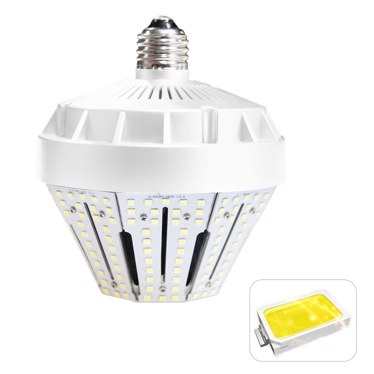 KAWELL 50W LED Garden Light,E39 7500Lm 5000K (Crystal White Glow) Replacement for Fixtures HID/HPS for Indoor Outdoor Large Area Lamp Lighting Factory Warehouse High Bay Barn Porch Backyard Garden
