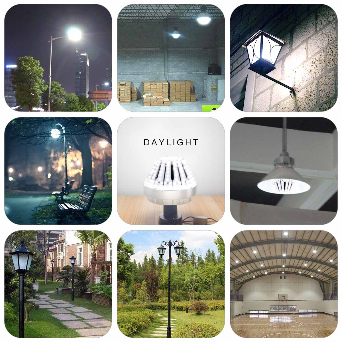 KAWELL 60W LED Garden Light,E39 9000Lm 6500K Daylight Replacement for Fixtures HID/HPS for Indoor Outdoor Large Area Home Street Lamp Lighting Factory Warehouse High Bay Barn Porch Backyard Garden