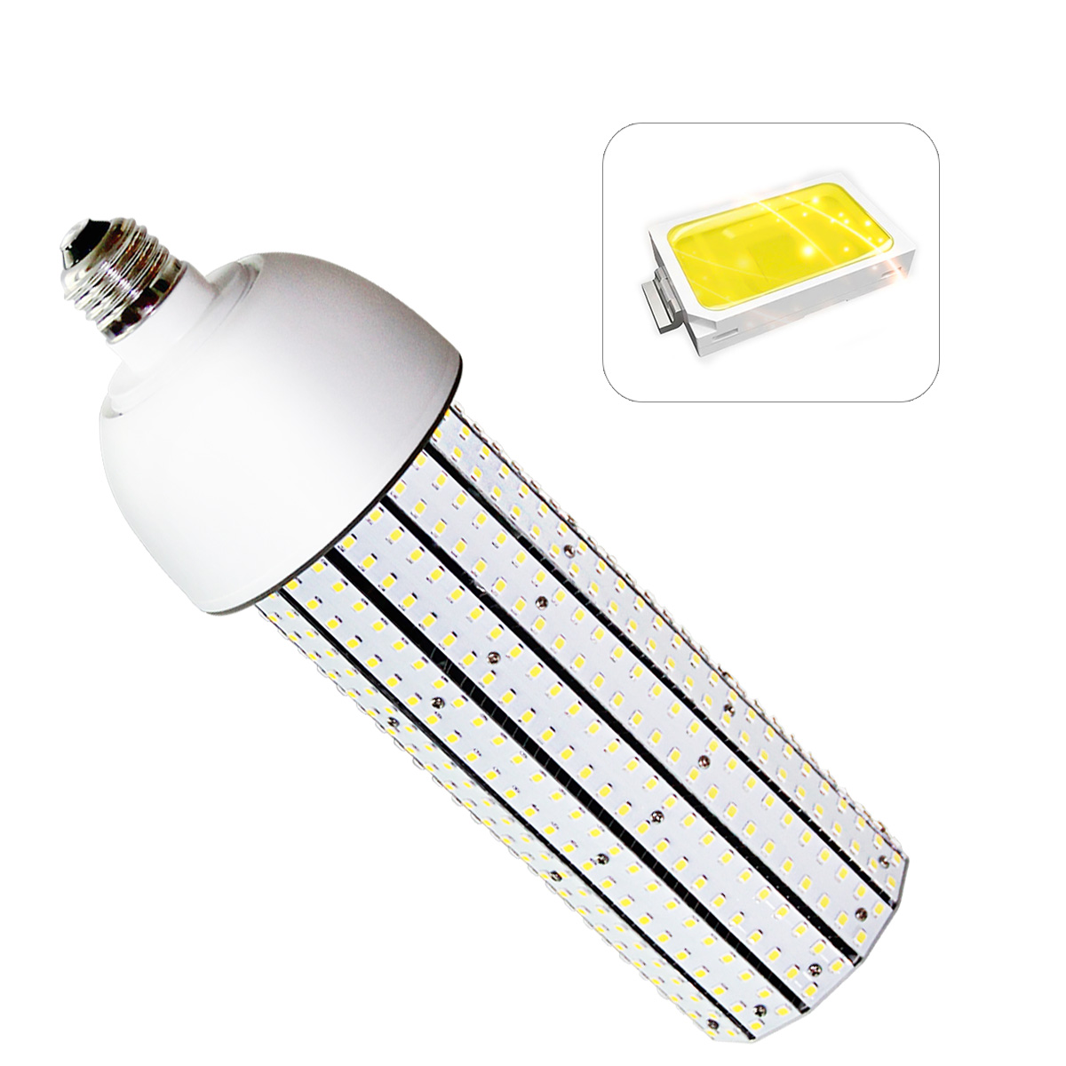 KAWELL 60W LED Corn Light Bulb E39 Large Mogul Base Commercial Retrofit Light Replacement for Fixtures HID/HPS/Metal Halide or CFL, 7200 lumen 3200K (Warm White) UL Listed TUV-Qualified DLC Certified