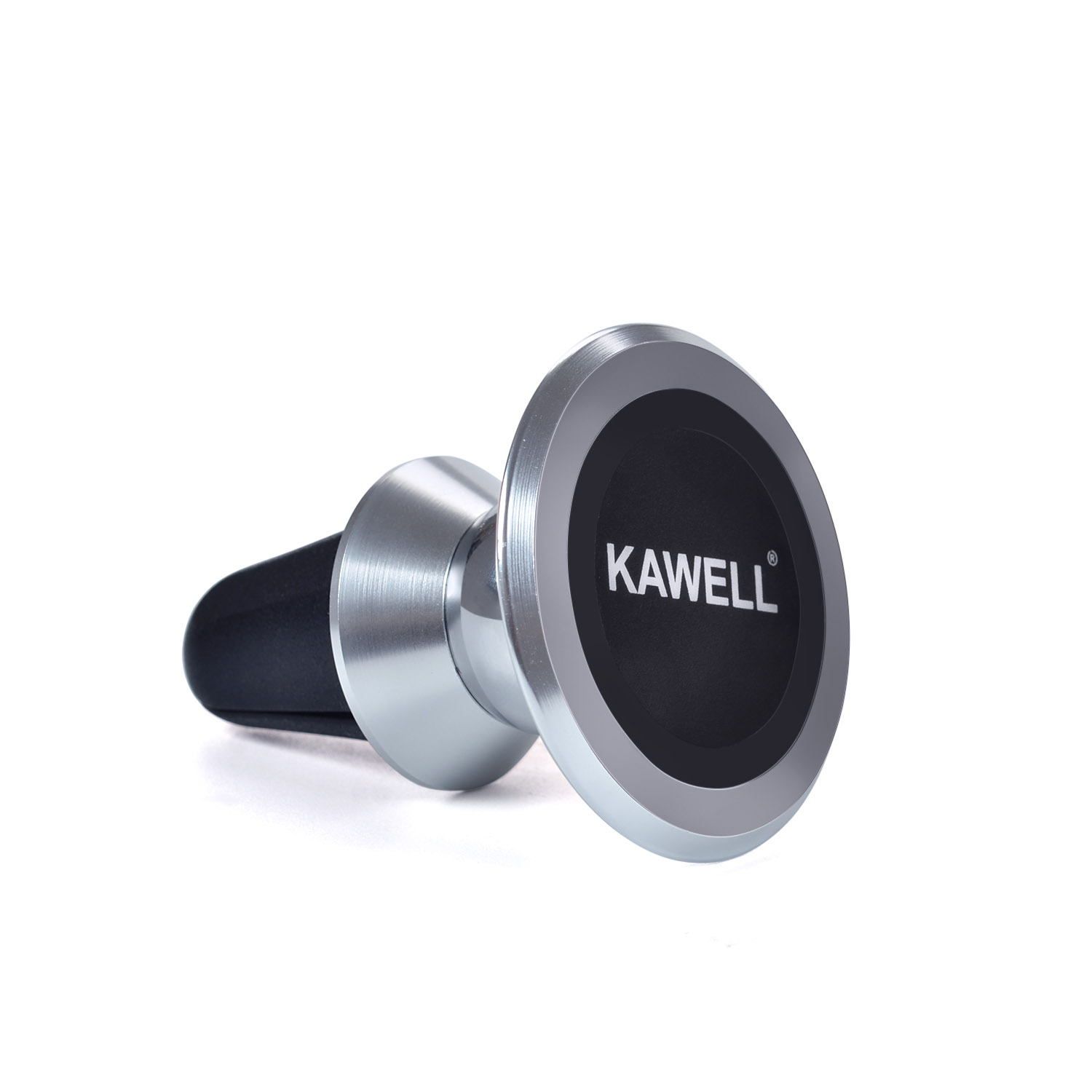 KAWELL Universal Magnetic Phone Car Mount, Aluminum Air Vent Cell Phone Holder, 360 Degree Adjustable for iPhone, Samsung, Nexus other Smart Phone and GPS Etc. (Aluminum Silver)