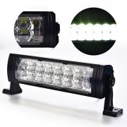 KAWELL 12.5 inch 55W 5D Lens LED Light Bar with Angel Eyes IP67 Waterp...
