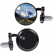 KAWELL Rear View Side Mirror Round Bar End Convex Hawk-eye Motorcycle Mirror For 7/8